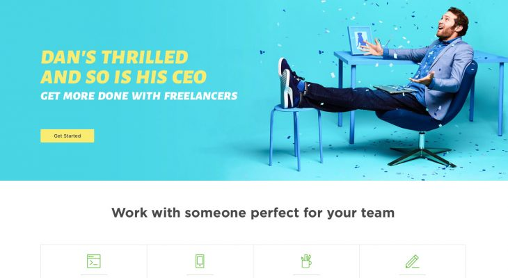 Upwork.com homepage screenshot
