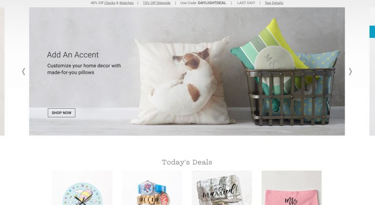 Zazzle homepage screenshot