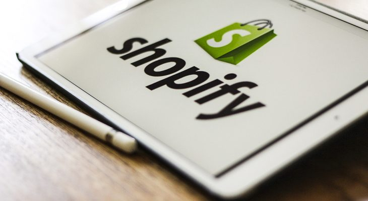 shopify logo iPad