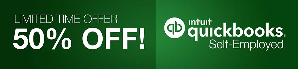 50 percent off quickbooks self employed