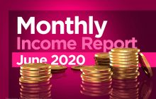 June 2020 monthly income report