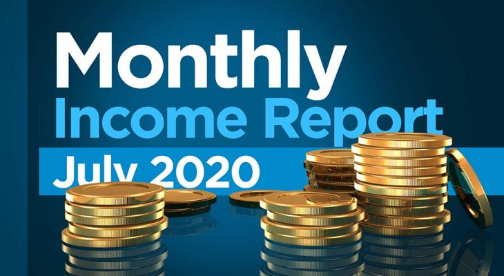 monthly income report July 2020